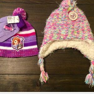 Disney Sophia the First & Earflap Hat Gloves Sets